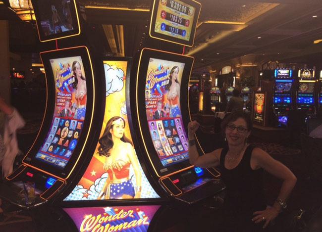 Slot machine woman